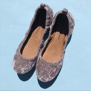 Lucky Brand Eleesia Mist Velvet Slip On Flats